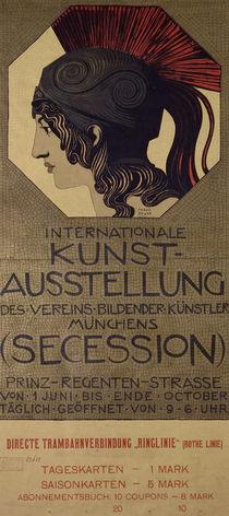 F.v.Stuck / Plakat Int. Kunstausstellung von AKG  Images