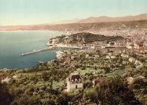 Nizza, Blick von Osten auf Port Limpia von AKG  Images