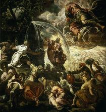 Tintoretto, Moses schlaegt Wasser.... von AKG  Images