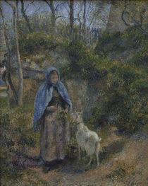 C.Pissarro, Frau mit Ziege von AKG  Images