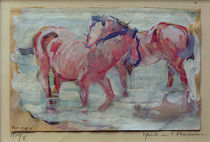 F.Marc, Pferde in der Schwemme by AKG  Images