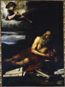 J.de Ribera, Hl.Hieronymus mit dem Engel by AKG  Images
