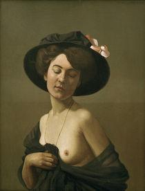F.Vallotton, Frau mit schwarzem Hut