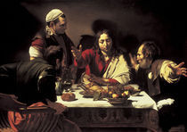 Caravaggio, Christus in Emmaus by AKG  Images