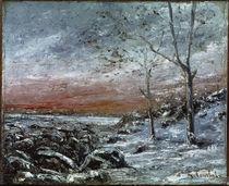 G.Courbet, Winterlandschaft by AKG  Images