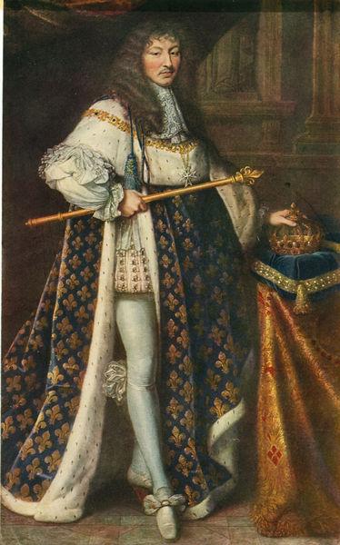 """Ludwig XIV. m. Kroenungsmantel/P.Mignard"" Bild als Poster ..."
