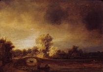 Rembrandt,  Landschaft mit Steinbruecke by AKG  Images