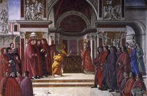 D.Ghirlandaio, Verkuendigung an Zacharias by AKG  Images