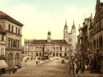 Magdeburg, Alter Markt / Photochrom by AKG  Images