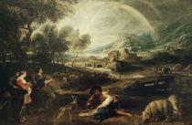 P.P.Rubens/ Landschaft mit Regenbogen von AKG  Images