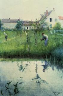 Carl Larsson, Beschneiden der Baeume/1883 von AKG  Images