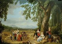 Ferdinand IV.u.Familie bei Ernte/Hackert von AKG  Images