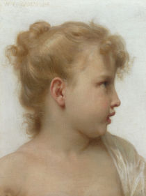 W.A.Bouguereau, Kopfstudie Maedchen by AKG  Images