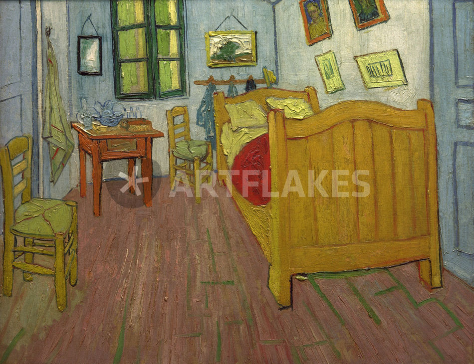 van gogh das schlafzimmer picture art prints and posters by akg images artflakes com. Black Bedroom Furniture Sets. Home Design Ideas