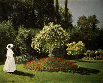 C.Monet, Dame im Garten/ 1867 by AKG  Images