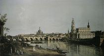 Dresden vom Brueckenkopf / Bellotto von AKG  Images