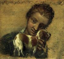 P.Veronese, Junge Frau mit Hund von AKG  Images