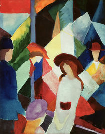 August Macke, Schaufenster/1913 von AKG  Images