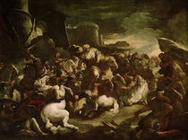 Semiramis in der Schlacht / L.Giordano by AKG  Images