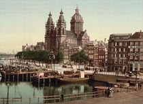Amsterdam, St. Nikolaaskerk / Photochrom von AKG  Images