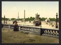 Paris, Place de la Concorde / Photochrom von AKG  Images