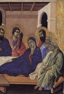 Duccio, Abschied Mariae von Aposteln von AKG  Images