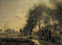 C. Corot, Strasse von Sin le Noble by AKG  Images