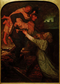 J.E.Millais, The Rescue by AKG  Images