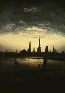 C.D.Friedrich, Stadt bei Mondaufgang1825 by AKG  Images