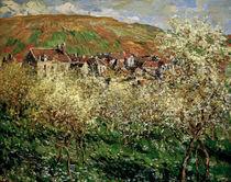 C.Monet, Bluehende Zwetschgenbaeume von AKG  Images
