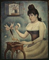 Georges Seurat, Sich pudernde Frau by AKG  Images