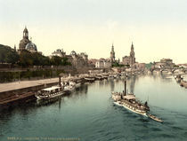Dresden, Terrassenufer / Photochrom by AKG  Images
