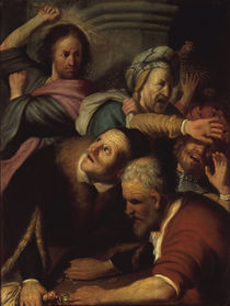 Rembrandt, Jesus treibt die Wechsler by AKG  Images