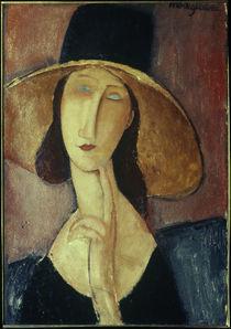 A.Modigliani, Frau mit grossem Hut von AKG  Images