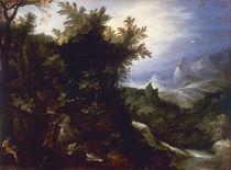 J.Brueghel d.Ae., Landschaft m.Hieronymus von AKG  Images