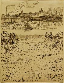 V.v.Gogh,Blick auf Arles ueber Kornfelder by AKG  Images
