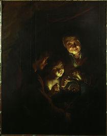 P.P.Rubens/Die Alte mit dem Kohlebecken by AKG  Images