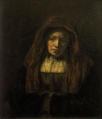 Rembrandt/ Alte Frau mit Kopftuch/ 1654 by AKG  Images