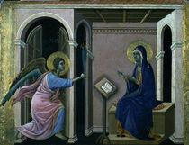 Duccio, Zweite Verkuendigung an Maria von AKG  Images