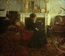 F.Khnopff, Schumanns Werken zuhoerend by AKG  Images