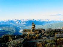 Rock Cairn in the Rockies von Joel Morin