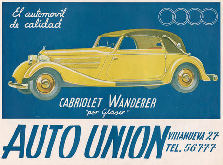 """Auto Union Audi, 1930s"" Picture art prints and posters by ..."