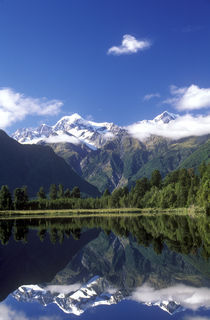 New Zealand, West Coast, Lake Matheson by Jason Friend