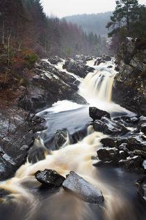 Scotland, Scottish Highlands, Rogie Waterfalls. by Jason Friend