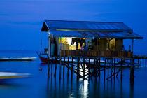 Sabah Malaysia, Borneo, Water Village von Jason Friend