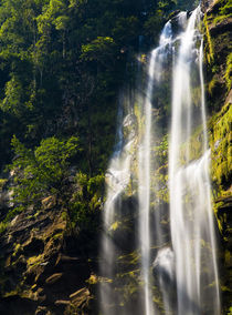 Laos, Ban Na Hin, Waterfall. by Jason Friend