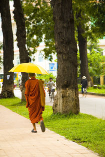 Cambodia, Siem Reap, Monk. by Jason Friend