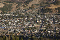 Aerial view of a town, Esquel, Chubut Province, Patagonia, Argentina by Panoramic Images