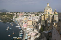 High angle view of a city, Procida, Naples, Campania, Italy von Panoramic Images
