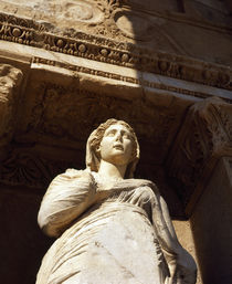 Low angle view of a statue in a library, Celsus Library, Ephesus, Turkey von Panoramic Images